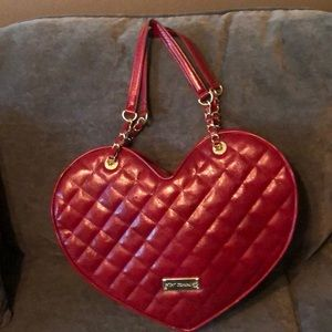 Red Betsy Johnson Quilted Purse